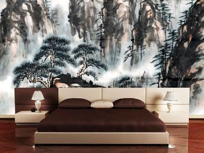Asian-Bedroom-Design-wall