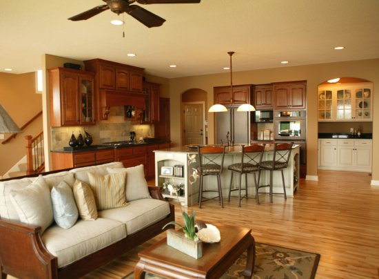 Open Floor Plan Decorating Ideas transitioning a kitchen and dining room to  blend well